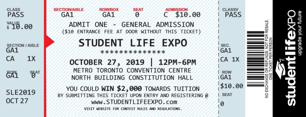 StudentLifeExpo Ticket 2019